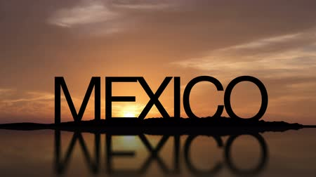Word Mexico With Sunset Timelapse in the background Stock mozgókép