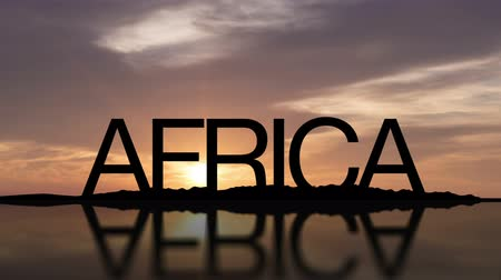 afrika : Africa Sign with sunset timelapse in the background