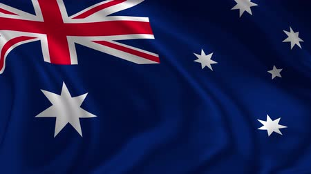 Flag of Australia waving in the air, 4K high resolution loop with detailed fabric texture