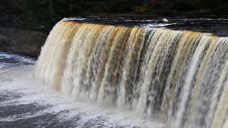 upper peninsula : Loop with the tannin stained water of Tahquamenon Falls located in the Upper Peninsula of Michigan.