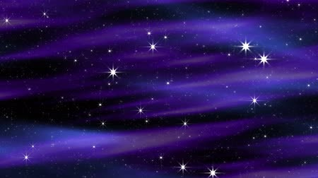 cobalt : Seamlessly looping twinkling stars shine against a dark background with violet purple and blue motion clouds.