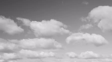 monocromático : Fluffy clouds move across the sky in this thirty second looping video with gray tones. Vídeos