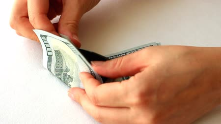 Counting of hundred dollar bills