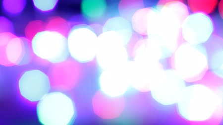 Flashing colored garland used as background Stock Footage