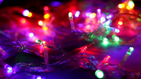Multicolored Christmas garland. New Years light
