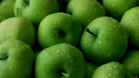 Fresh green apples - source of vitamins and healthy lifestyle