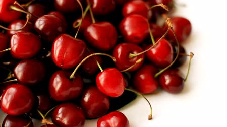 Ripe sweet cherry Wideo