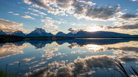 grand tetons : TL Grand Teton - Jackson Lake Mirrors Grand Teton Range at Sunset
