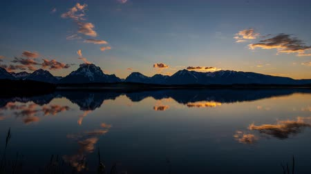 grand tetons : TL Grand Teton - Jackson Lake Mirrors Grand Teton Range at Twilight