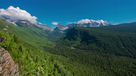 montana : TL Glacier - View Of Logan Pass in Early Summer in Montana