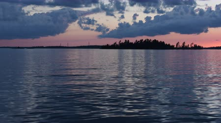 alkony : Islands on Rainy Lake at Sunset
