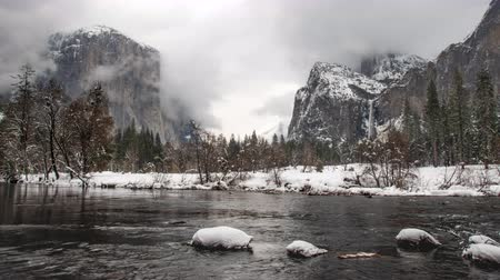 Time Lapse of Yosemite Valley View from River Level