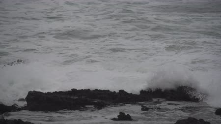 Wave Drains Through Thors Well along the Oregon Coast