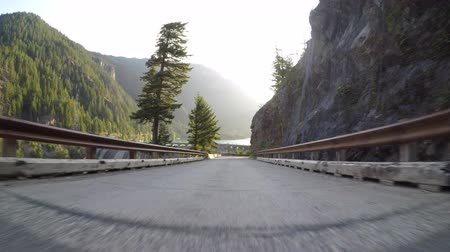 diablo : Driving Down to Diablo Dam Stock Footage