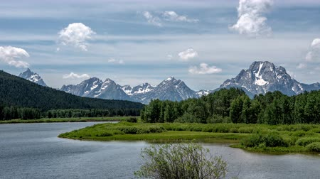 grand tetons : Oxbow Bend on the Snake River Below Grand Teton Range