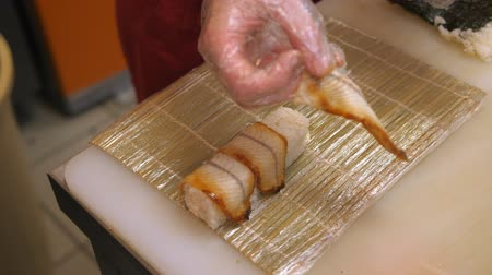 var : Sushi and rolls. Cooking