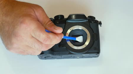düzeltme : Cleaning the camera matrix. dust on the matrix. dirt on the sensor. sensor cleaning. photosensitive matrix.