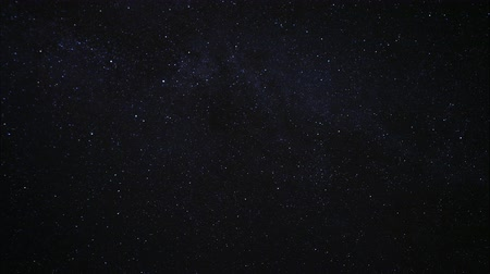 kivonat : Starry night sky. Twinkling stars in the dark night sky. Light clouds drifting in the night sky. Time lapse Stock mozgókép
