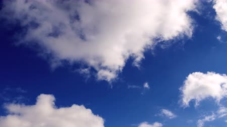 bulutluluk : Spring blue sky with clouds.