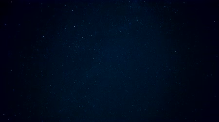 Night starry sky. A shooting star in the sky.