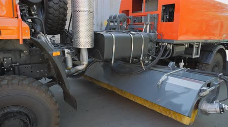 pneumatic : Equipment for cleaning streets and road surfaces.