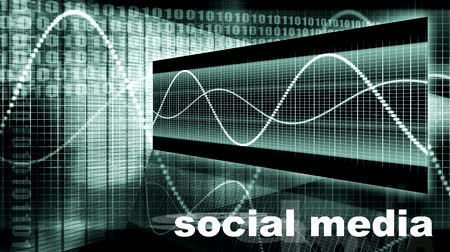 seo : Social Media Looping as a Technology Introduction Stock Footage