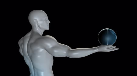 financování : Global Technology Concept with Man Holding Globe