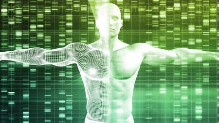 cellen : DNA dat codeert voor en Genetische code als Science Abstract Stockvideo