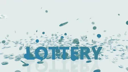 accumulating : Lottery Winner Concept with Money Falling From the Sky