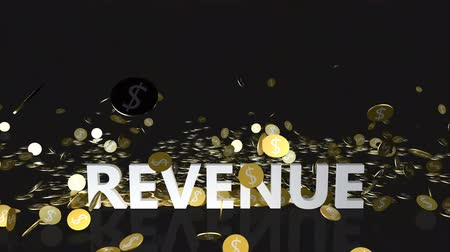bez szwu : Revenue Concept with Gold Coins Falling From the Sky