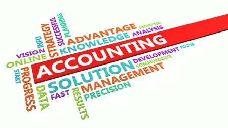yazılım : Accounting Word Cloud Concept Isolated on White