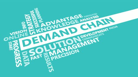 demanda : Demand Chain Presentation Background in Blue and White