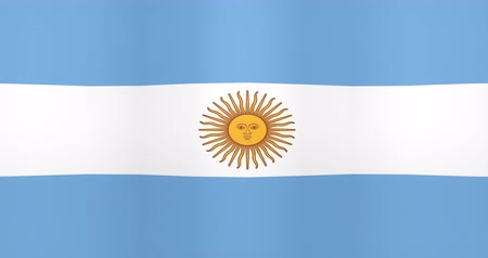 gradual : Waving Flag of Argentina Looping Background Stock Footage