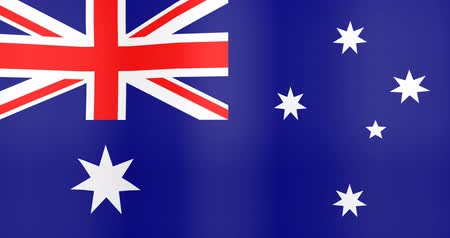 gradual : Waving Flag of Australia Looping Background