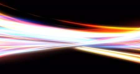 clash : Glowing Energy Lines with Mixing Neon Lights Stock Footage