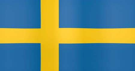 gradual : Waving Flag of Sweden Looping Background Stock Footage