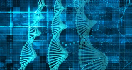 клетка : Science Technology Medical Abstract Background with DNA Стоковые видеозаписи
