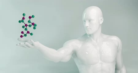 descobrir : Science Molecule Held by a Scientist Looping as Concept Vídeos