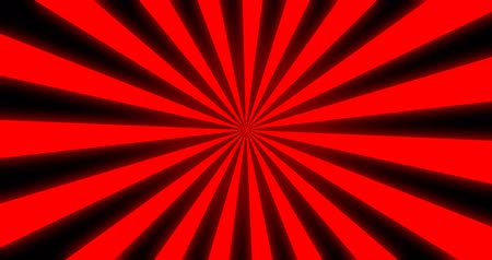 helezon : Sunray Background in Red and Black Rays Looping Stok Video