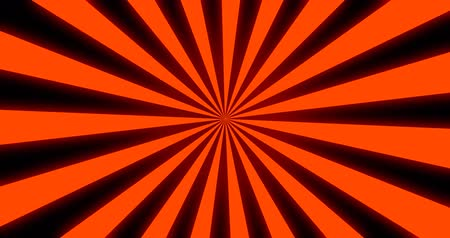 radyal : Sunray Background in Orange and Black Rays Looping Stok Video