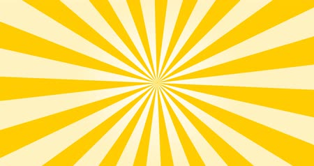 helezon : Sunray Background in Yellow and White Rays Looping