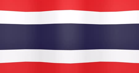 gradual : Waving Flag of Thailand Looping Background