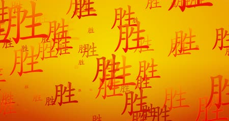 shui : Chinese Symbol of Success Flowing as a Background Stock Footage
