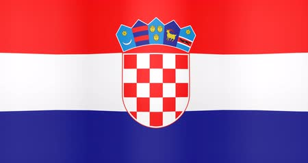 gradual : Waving Flag of Croatia Looping Background
