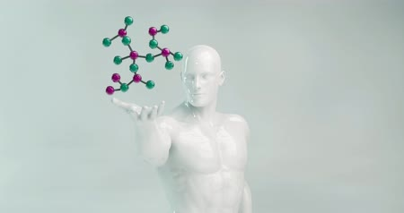 físico : Scientist Holding a Molecule as a Science Concept