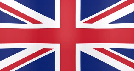 spojené království : Waving Flag of United Kingdom Looping Background Dostupné videozáznamy