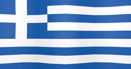 gradual : Waving Flag of Greece Looping Background Stock Footage