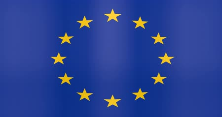 gradual : Waving Flag of Euro Zone Looping Background Stock Footage