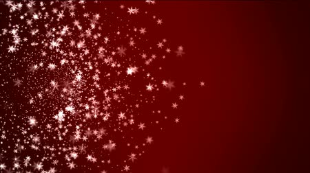 christian : falling snow on red background