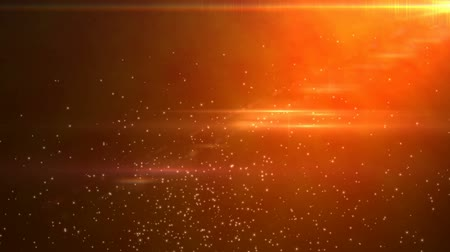 orange background : Particle with flare background Stock Footage